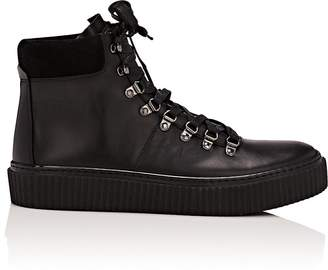 Barneys New York Men S Creeper Sole Leather Hiker Boots