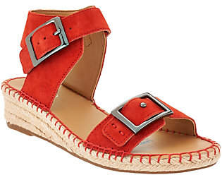 Franco Sarto Suede or Leather EspadrilleSandals - Latin