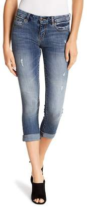 Eunina Denim Greta Mid Rise Cropped Roller Skinny Jeans (Juniors)