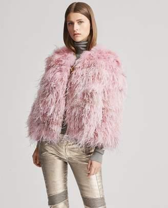 Ralph Lauren Maria Shearling-Feather Jacket