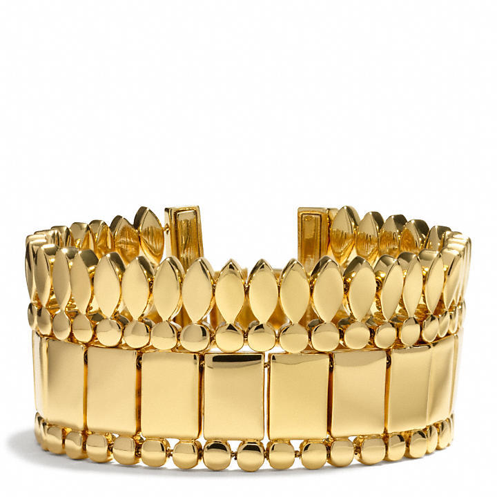 Coach Metal Cupchain Bracelet