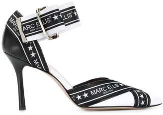 Marc Ellis logo tape ankle-strap pumps