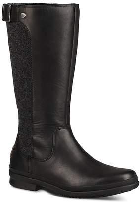 UGG Women's Janina Waterproof Leather Paneled Tall Boots