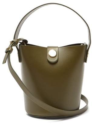 Sophie Hulme Nano Swing Leather Bucket Bag - Womens - Khaki