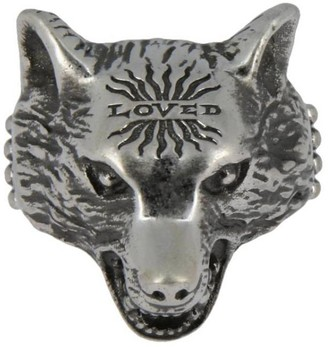 4c87901645e7 Gucci Jewel Anger Forest Wolf S Ring In Sterling Silver With Aureco  Finishing