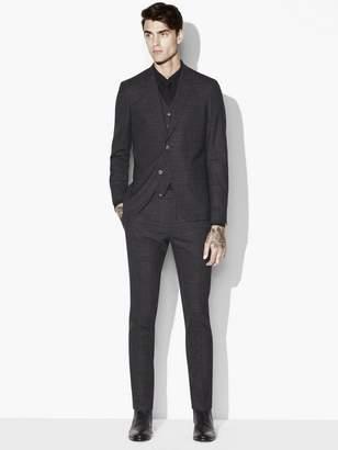 John Varvatos Austin 3 Piece Glen Plaid Suit