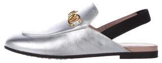 Gucci Kids' Leather Slingback Loafers