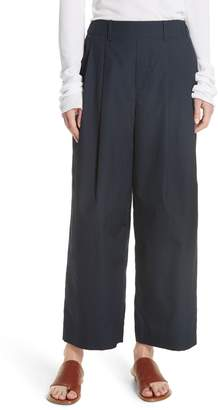 Vince Wide Leg Polished Cotton Pants
