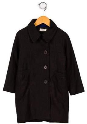 Maan Boys' Tweed Long Sleeve Coat black Maan Boys' Tweed Long Sleeve Coat