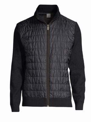 Bugatti Quilted Sweater Bomber Jacket