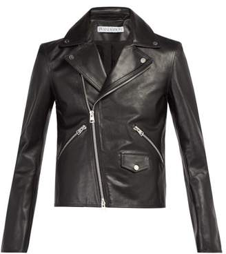 J.W.Anderson X Gilbert & George Leather Biker Jacket - Mens - Black