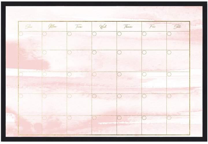 Oliver Gal Watercolor Blush Calendar (Framed Whiteboard)