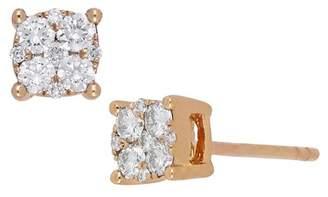 Bony Levy 18K Rose Gold Pave Diamond Stud Earrings