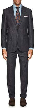Brioni Men's Denim-Effect Wool-Cashmere Two-Button Suit - Blue