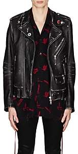 Amiri Men's Lost Boys Vintage Leather Moto Jacket - Black