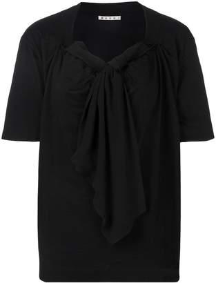 Marni draped neck tie T-shirt