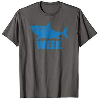 New 2018 Novelty Graphic Week of The Shark T-Shirt Unisex
