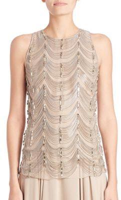 Ralph Lauren Collection Beaded Silk Shell