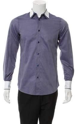 Alexander McQueen Fabric Accented Button-Up Shirt