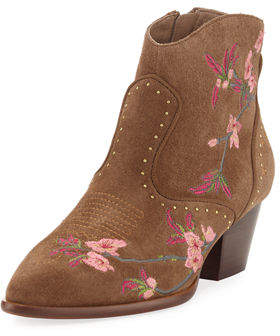 Ash Heidi Suede Embroidered Boot