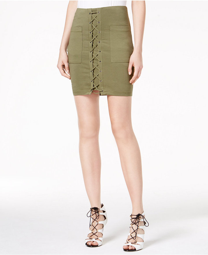 Guess Irene Lace-Up Skirt