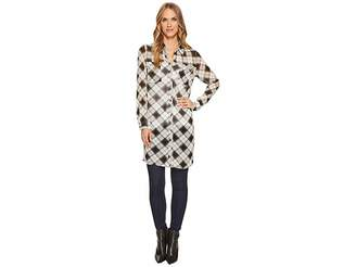 Tribal Long Sleeve Tunic Blouse w/ Pockets Women's Blouse