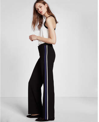 Express Mid Rise Side Stripe Wide Leg Pant $88 thestylecure.com
