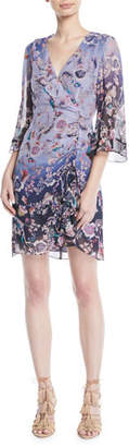 Nanette Lepore Ombré Kimono Mini Dress