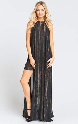 Show Me Your Mumu Bronte Maxi Dress ~ Sparkle and Shine Black