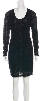 Opening Ceremony Textured Semi-Sheer Dress w/ Tags Black Textured Semi-Sheer Dress w/ Tags