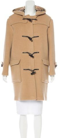 Burberry London Wool Nova Check-Lined Coat