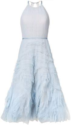 Marchesa textured tulle midi tea dress