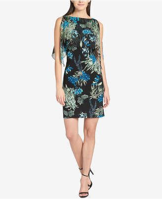 Tommy Hilfiger Floral-Printed Chiffon-Overlay Dress