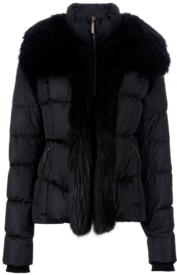 Roberto Cavalli Faux Fur padded jacket