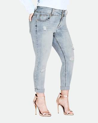 City Chic Asha Rip N Roll Jeans