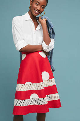 Anthropologie Tracy Reese x Lucille Polka Dot Skirt