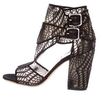 Laurence Dacade Crochet Buckle Sandals