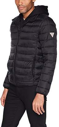 GUESS Men's Hooded Puffer Jacket