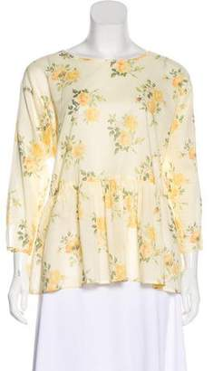 The Great Long Sleeve Floral Top