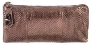 Reed Krakoff Snakeskin T-Pin Wallet