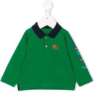 Burberry long sleeved polo shirt