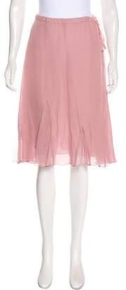 Calypso Silk knee-Length Skirt