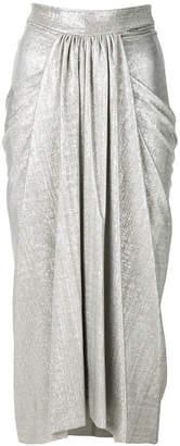 Rick Owens Lilies pleated midi skirt