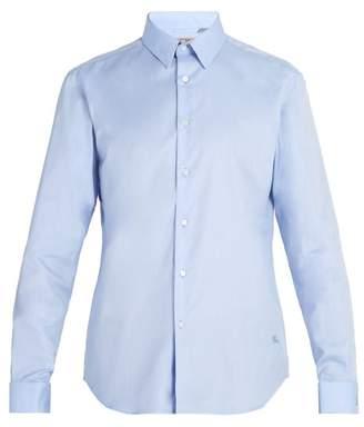 Burberry Double Cuff Oxford Cotton Shirt - Mens - Blue