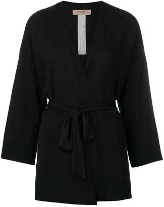 Twin-Set belted wrap-style cardigan