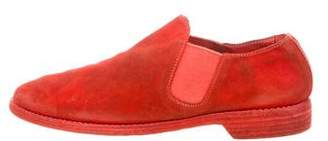 Guidi Round-Toe Suede Loafers w/ Tags