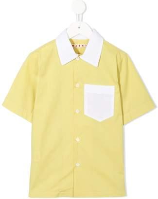 Marni contrast chest pocket shirt
