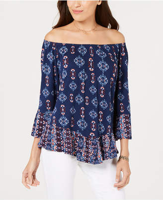 Style&Co. Style & Co Petite Off-The-Shoulder Top, Created for Macy's