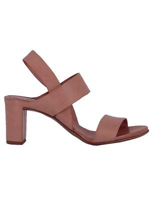 Roberto Del Carlo Pink Leather Sandals