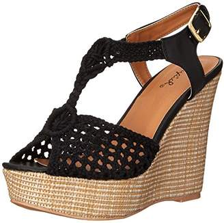 Qupid Women's Clemence-93 Wedge Sandal